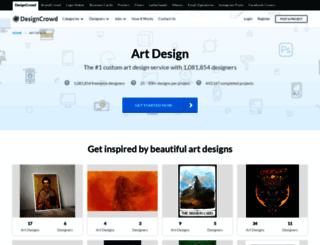 art.designcrowd.co.in screenshot