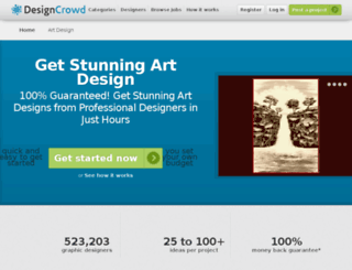 art.designcrowd.com screenshot