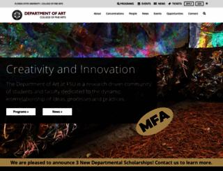 art.fsu.edu screenshot