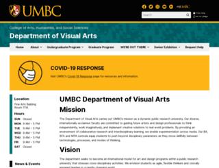 art.umbc.edu screenshot