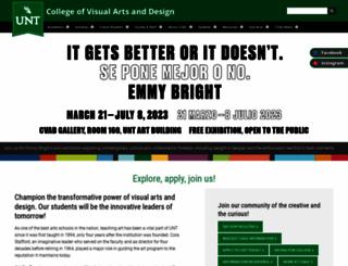 art.unt.edu screenshot