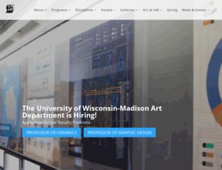 art.wisc.edu screenshot