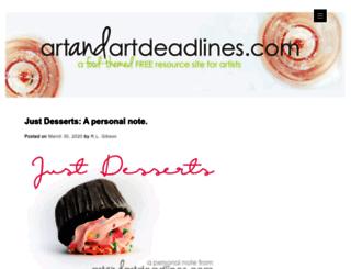 artandartdeadlines.com screenshot