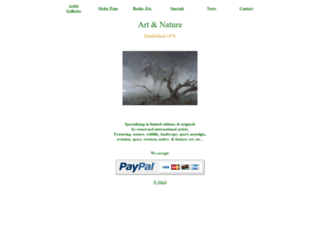 artandnature.com screenshot