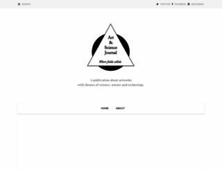 artandsciencejournal.com screenshot