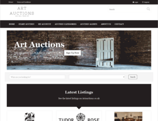 artauctions.co.uk screenshot