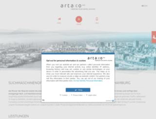 artaxo.com screenshot