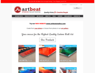 artbeatstudios.artstorefronts.com screenshot