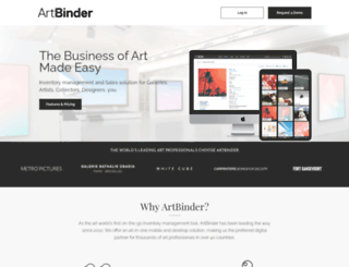 artbinder.com screenshot