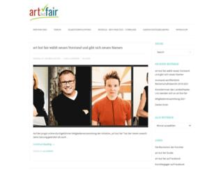 artbutfair.org screenshot