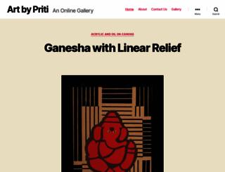 artbypriti.com screenshot