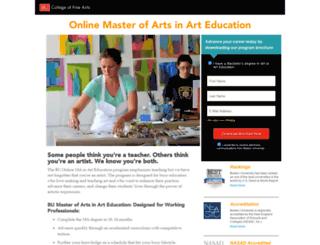 arteducation.bu.edu screenshot