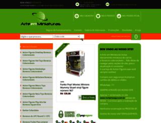 arteemminiaturas.com.br screenshot