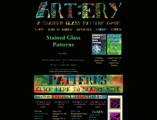 artery-stainedglasspatterns.com screenshot