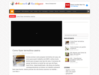 artesanatoereciclagem.com.br screenshot