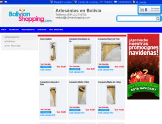 artesaniasenbolivia.com screenshot