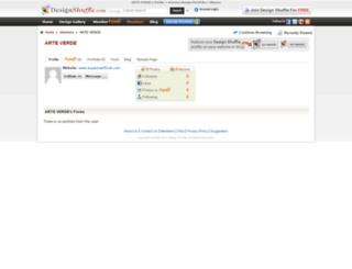 arteverde.designshuffle.com screenshot