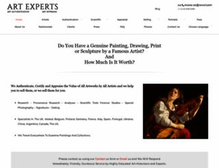 artexpertswebsite.com screenshot