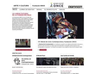 arteycultura.fundaciononce.es screenshot