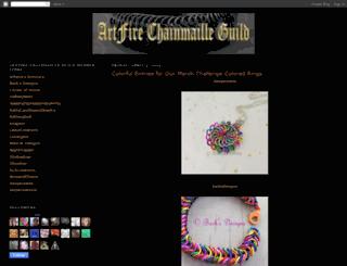 artfirechainmailleguild.blogspot.com screenshot