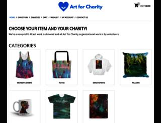 artforcharity.com screenshot