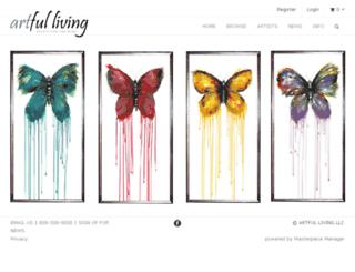 artfullivinggallery-v10.masterpiecesolutions.org screenshot
