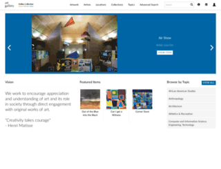 artgallery.gvsu.edu screenshot