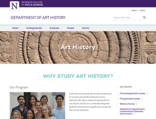 arthistory.northwestern.edu screenshot