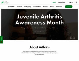 arthritis.org screenshot