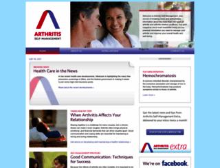 arthritisselfmanagement.com screenshot