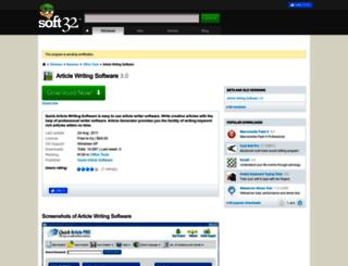 article-writing-software.soft32.com screenshot