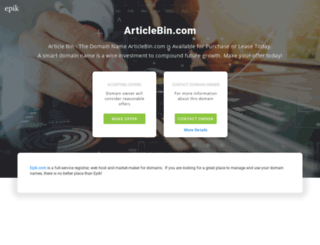 articlebin.com screenshot