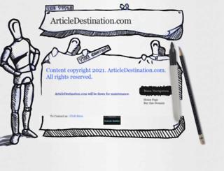articledestination.com screenshot