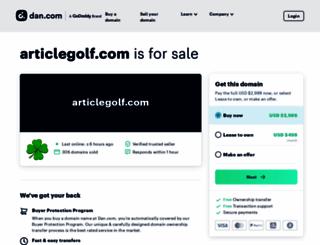 articlegolf.com screenshot