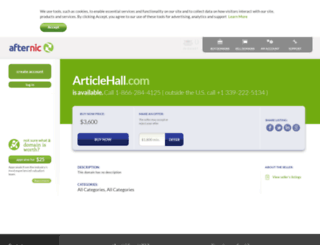 articlehall.com screenshot