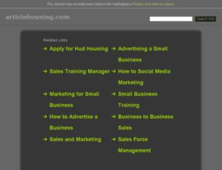 articlehousing.com screenshot