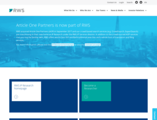 articleonepartners.com screenshot