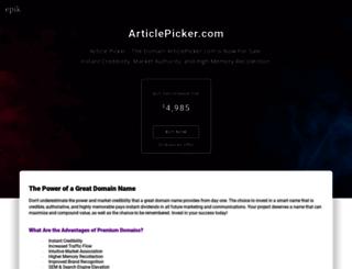 articlepicker.com screenshot