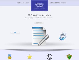 articleradar.com screenshot