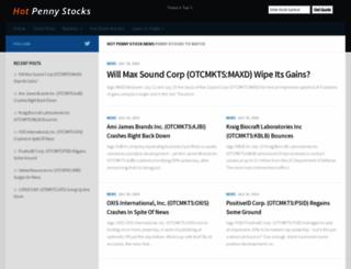articles.thehotpennystocks.com screenshot