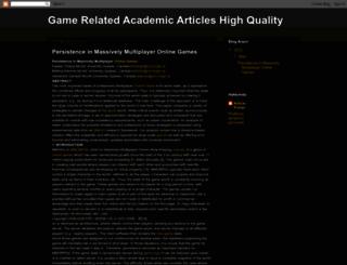 articlesaboutgames.blogspot.com screenshot