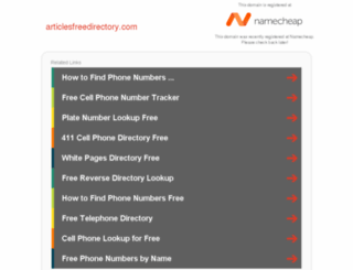 articlesfreedirectory.com screenshot