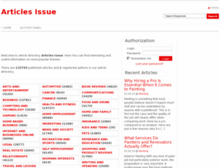 articlesissue.com screenshot