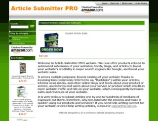 articlesubmitterpro.com screenshot
