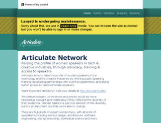 articulate-network.lanyrd.com screenshot