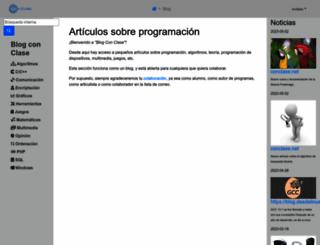 articulos.conclase.net screenshot
