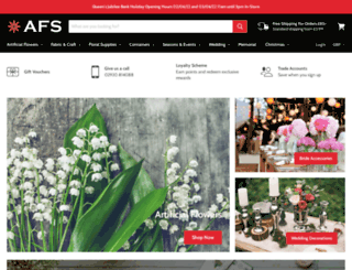 artificialfloralsupplies.co.uk screenshot