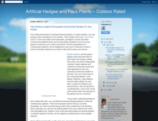 artificialhedgesandfauxplants.blogspot.com screenshot