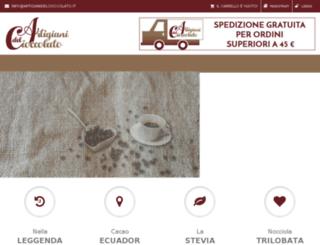 artigianidelcioccolato.it screenshot