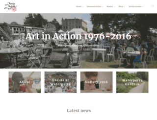 artinaction.org.uk screenshot